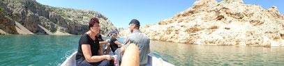 Bootsfahrt von Obrovac aus in den Zrmanja Canyon (Orginal Drehort aus Winnetou I & Winnetou III)