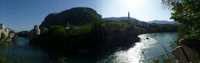 Mostar mit  der Neretivica