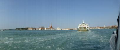 Venedig Schifffahrt von Punta Sabioni