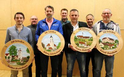 v.l.n.r.: Severin Mack, Josef Grosser, Detlef Zahn, Christoph Mettel, Bernd Lindenmayr, Stefan Taglang, Paul Klebinger