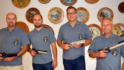 Luftpistolen Mannschaft: Karl-Heinz Brey, Albert Frieß, Nils Niermann, Gerhard Hinz