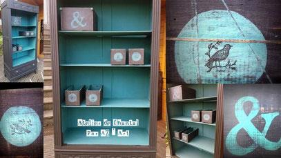 Armoire avec boîtes rangement 180 €  ou 162 Bzk