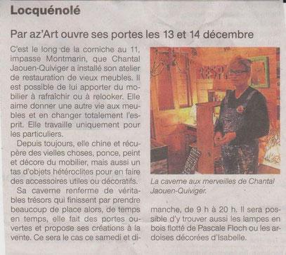 Ouest France 12 décembre 2014