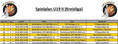 Spielplan U19 II Stand 20.09.2013