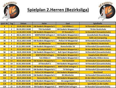 Spielplan 2.Herren Stand 20.09.2013