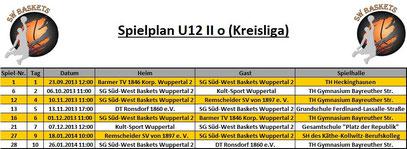 Spielplan U12 II Stand 20.09.2013