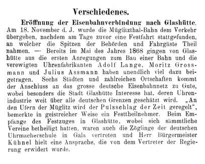 Allgemeines Journal der Uhrmachekunst Nr.23 vom 01. Dez. 1890