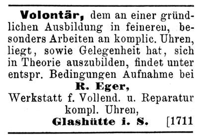Quelle: Handelszeitung für die gesamte Uhrenindustrie vom 15.08.1898 S. 14