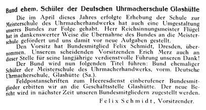 Die Uhrmacherkunst Nr.40 vom 27.09.1940 S. 295