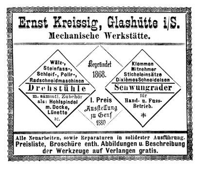 Anzeige im Allgemeinen Journal der Uhrmacherkunst im März 1882