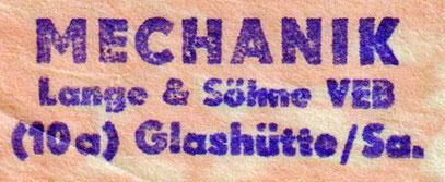 Neuer, offizieller Firmenstempel (25.03.1949)