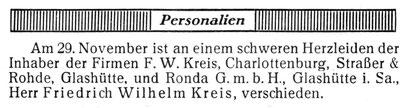 Quelle: Die Uhrmacher-Woche Nr.49 vom 06. Dez. 1924 S.731