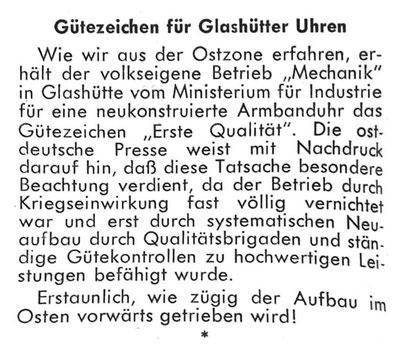 """Fachzeitschrift """"Die Uhr"""" Nr.07 von 1950 S.22"""