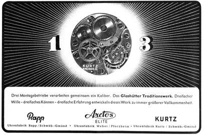 Quelle: Die Uhr Nr. 03/1950 S. 16