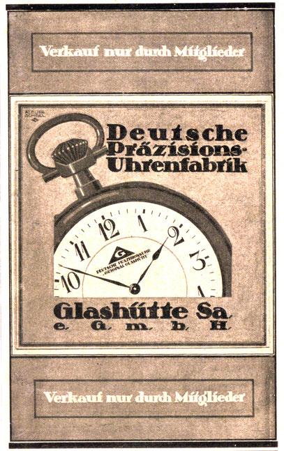 Werbeanzeige der DPUG 1921 - Der ausschließliche Verkauf nur an Genossenschaftsmitglieder, war ein großer strategischer Fehler