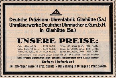 Werbeanzeieg 1924