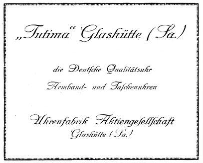 """Quelle: """"Saxonia"""" Organ des A. H.-Verbandes der Schülervereinigung """"Saxonia"""" an der Deutschen Uhrmacherschule zu Glashütte Nr. 37 vom 30.10.1929"""