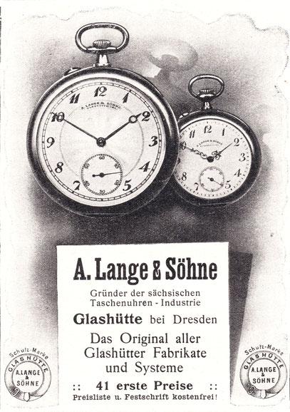 Eine der letzten Werbeanzeigen vor Beginn des 1. Weltkrieges 1914