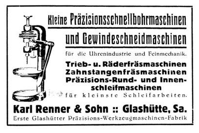 Quelle: Deutsche Uhrmacher-Zeitung Nr.42 von 1926