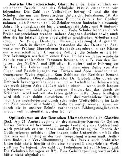 Quelle: Deutsche Uhrmacher-Zeitung Nr. 31 v. 27. Juli 1935 S. 398