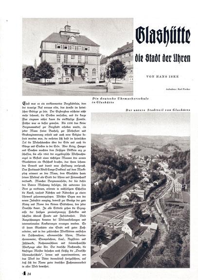 Artikel in illustriete Wochenzeitung 1937