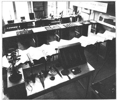 Arbeitsplätze der Abteilung Optik 1936