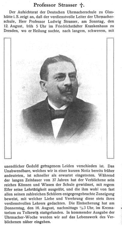 Quelle Leipziger Uhrmacher-Zeitung Nr.34 vom 18. Aug. 1917 S.256