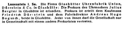 Quelle: Leipziger Uhrmacger-Zeitung 1919 Nr.52 s.393