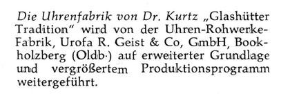 Quelle: Neue Uhrmacher-Zeitung Nr. 06 vom 31 März 1961 S. 32