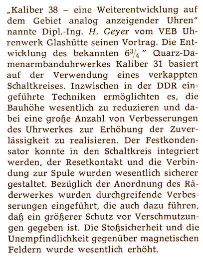 Quelle: Uhren & Schmuck Nr. 3 von 1982 S. 93