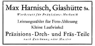 Werbeanzeige um 1935