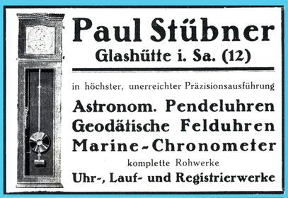 Werbeanzeige aus dem Jahr 1929