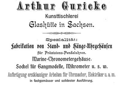 """Quelle. """"Saxonia"""" Bericht für die Alten Herren der Schülervereinigung """"Saxonia"""" an der Deutschen Uhrmacherschule in Glashütte Nr.1 Okt.1904"""