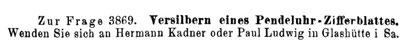 Quelle: Die Uhrmacherkunst Nr.17 vom 01. Sept.1919 S.222