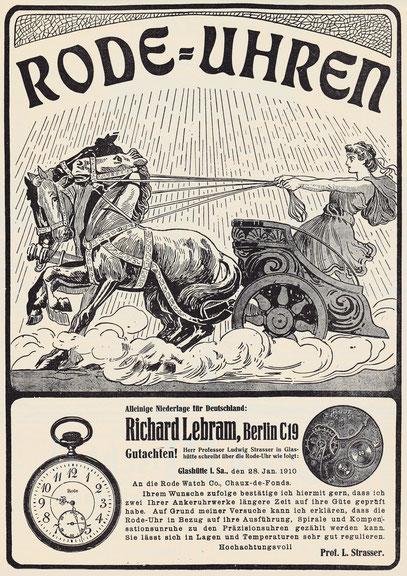 Tageszeitung Werbeanzeige vom 01.08.1910