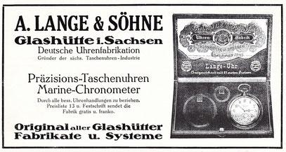 Werbeanzeige von 1913 in überregionaler Tageszeitung
