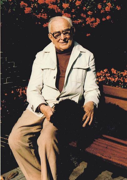 Dr. Ernst Kurtz mit 87 Jahren, 1986 in Hollen