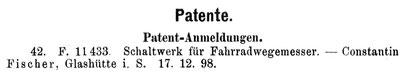 Quelle: Handelszeitung für die Gesamte Uhrenindustrie Nr.12 vom 15. Juni 1899 S. 147