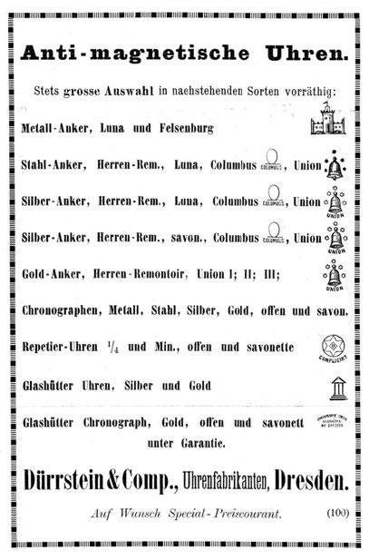 Quelle: Allgemeines Journal der Uhrmacherkunst 1897 S.166