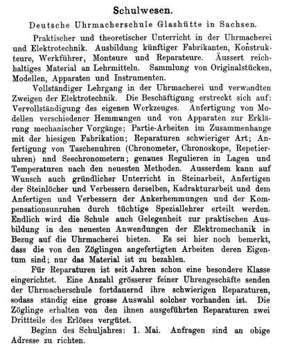 Quelle: Handelszeitung für die gesammte Uhrenindustrie Nr. 07 vom 01. Apri 1896 S. 196
