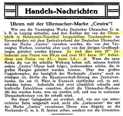 Deutsche Uhrmacher-Zeitung 1925 [13]