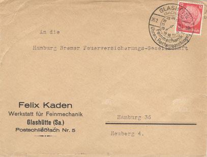 1937 Geschäftspost