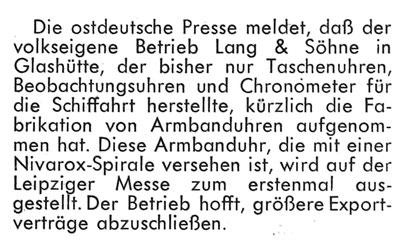 Quelle: Fachzeitschrift Die Uhr Nr.07 von 1950 S.22