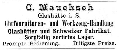 Quelle: Notiz-Kalender für Uhrmacher 1886