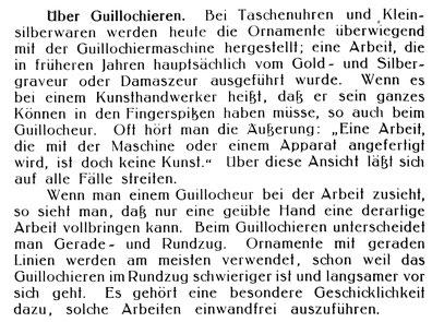 Quelle: Die Uhrmacherkunst Nr.38 vom 19. Sept. 1930 S. 786