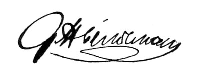 Faximile der Unterschrift vom 1. Direktor Georg Lindemann
