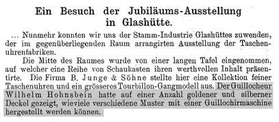 Quelle: Deutsche Uhrmacher-Zeitung Nr.19 vom 1.Okt. 1895 S.219