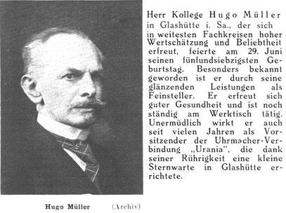 Quelle: Deutsche Uhrmacher-Zeitung Nr. 27 von 1938 S.362