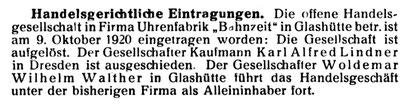 Quelle: Die Uhrmacher-Woche Nr.47 von 1921 S. 559