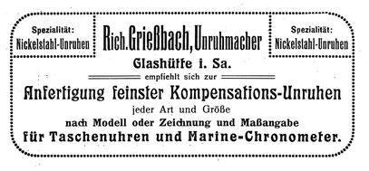 [2] Saxonia Heft 12, April 1914, Anzeigeteil